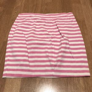 Betsey Johnson white and pink striped skirt
